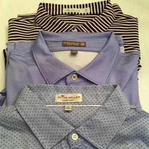 Three Shirt Peter Millar Bundle -EUC